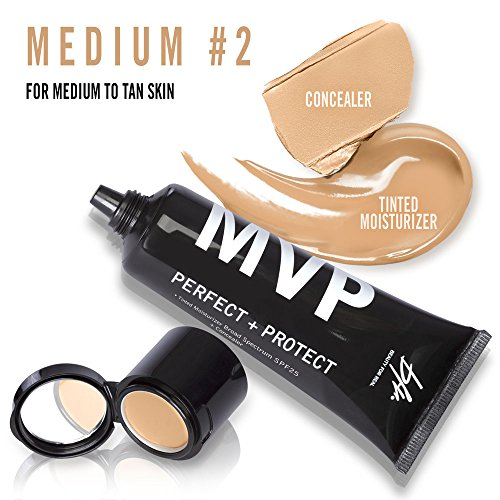 Beauty For Real Mvp Perfect   Protect Tinted Moisturizer Spf25  45 Ml 1 5 Fl Oz   Concealer  1 5 G 0 05 Oz  2 In 1  Medium  2