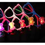 12 Pairs of LED Flashing Hello Kitty Bow Light Up Party Glasses Shades