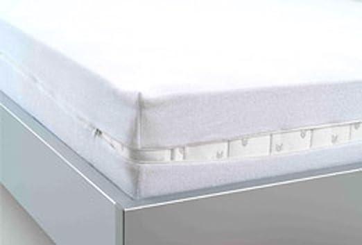 Funda protectora impermeable con cremallera para colchón (100 x ...