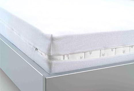 Funda protectora impermeable con cremallera para colchón (100 x 200 cm)