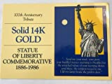 #9: 1986 Statue of Liberty Commemorative 100th Anniversary Tribute Coin With Certificate Of Authenticity Medal Uncirculated SOLID 14K