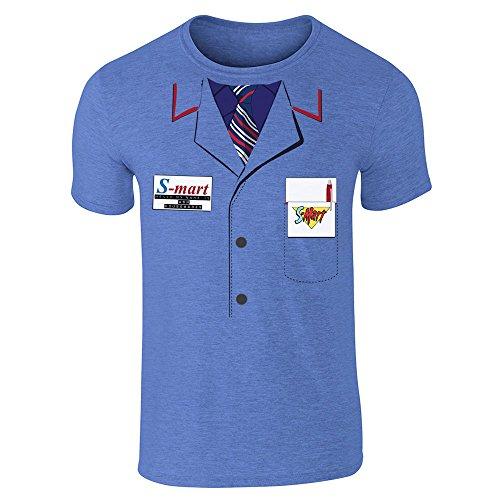 Ash Shop S-Mart Costume Heather Royal Blue M Short Sleeve T-Shirt by Pop Threads