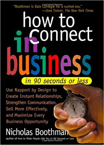 How to Connect in Business in 90 Seconds or Less price comparison at Flipkart, Amazon, Crossword, Uread, Bookadda, Landmark, Homeshop18