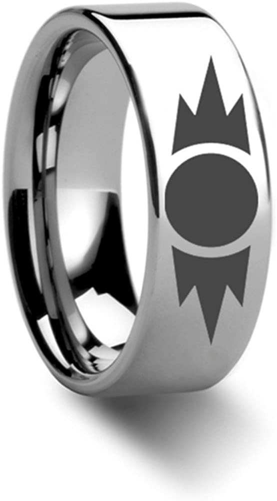 Thorsten Sith Insignia Emblem from Star Wars Wedding Band Ring Tungsten 8mm Wedding Band Ring from Roy Rose Jewelry