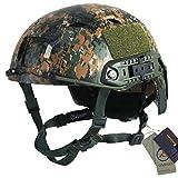 OSdream BJ-B Camo Lightweight Tactical Helmet For Airsoft Paintball (AOR2)