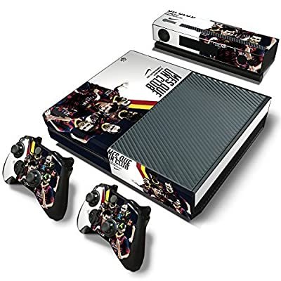 BEST DESIGN NEW FC Barcelona Super Team. Messi, Neymar and over Barca football STARS Skin Sticker for Microsoft XBOX ONE System video game console