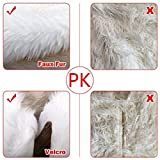 """48"""" Faux Fur Christmas Tree Skirt , Big Soft Snowy White Tree Skirts for Xmas Holiday Decorations Pet Favors"""