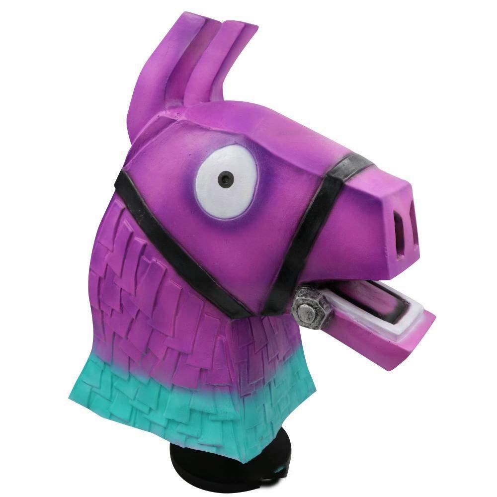 Circlefly Sfera di colore Halloween cavallo testa Pasqua maschera costume Halloween Latex parrucca