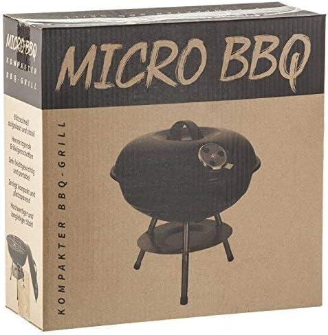 Micro barbecue bouilloire grill compact voyage charbon de bois grill table grill émaillé en acier inoxydable 38 cm - noir