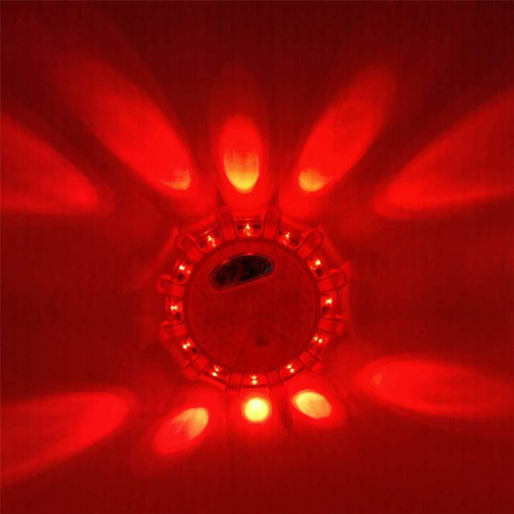 Road Flare Flashing Emergency Signal Warning LED Light Beacon Battery Power UK