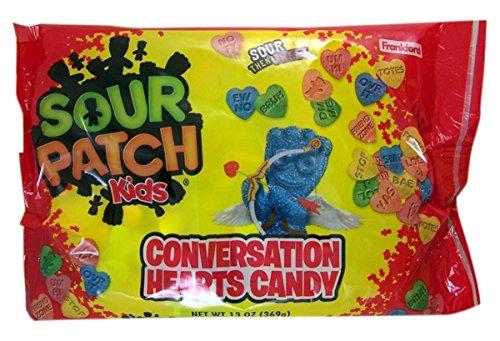 Sour Patch Kids Conversation Hearts Valentine's Day Candy, 13 oz