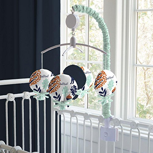 Carousel Designs Navy and Orange Woodland Mobile by Carousel Designs