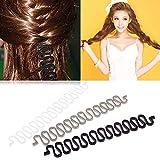 Women lady Fashion Hair Style Clip Stick Bun Make Twist Braid Tool Lock Weave MT