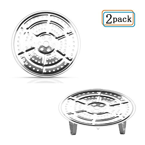 11-Inch Pressure Cooker Canner Rack(2-Pack ) Detachable Legs Canning Rack for Stainless Steel Pressure Canner Rack Pot Steam Basket Rack Accessories ()