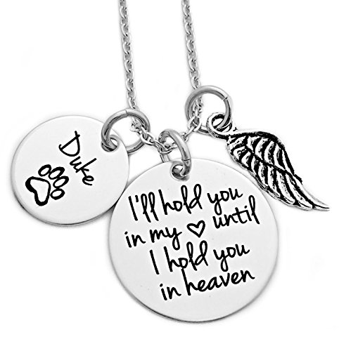Personalized Pet Memorial Necklace Engraved product image