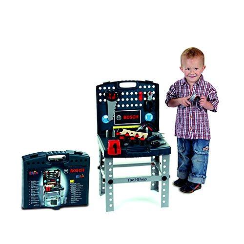 Theo Klein Bosch Plastic Toy Tool Shop Playset with Ixolino - Workbench Bosch