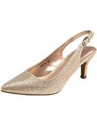 Women Low Heel Shoes Slingback Pumps