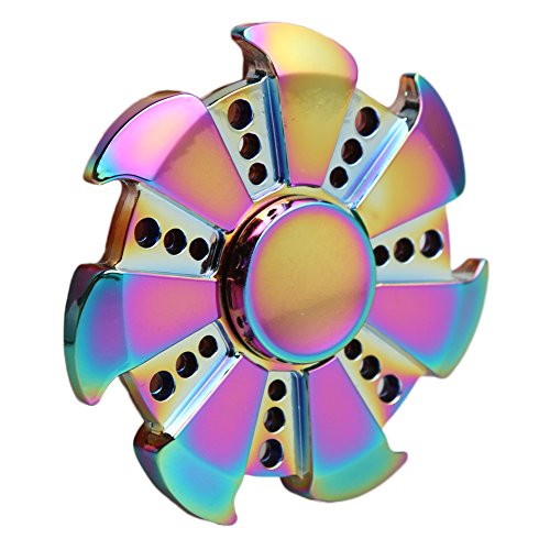 ANTI-SPINNER Wind Wheel Colorful Gyro Hand Spinner Fidget Finger Toy EDC Focus Anxiety Stress Reducer ANTI-SPINNER