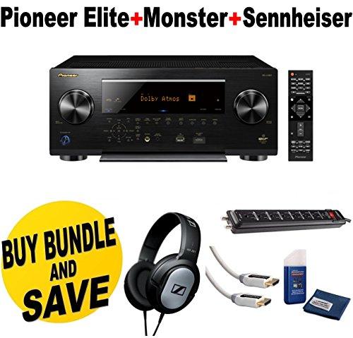 Pioneer-Elite-112-Channel-Class-D3-Network-AV-Receiver-SC-LX901-Sennheiser-HD206-Lightweight-Over-Ear-Binaural-Headphones-Monster-Home-Theater-Accessory-Bundle