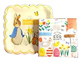 Meri Meri Peter Rabbit Paper Square Large Plates and Napkins Scallop Edges Bundle