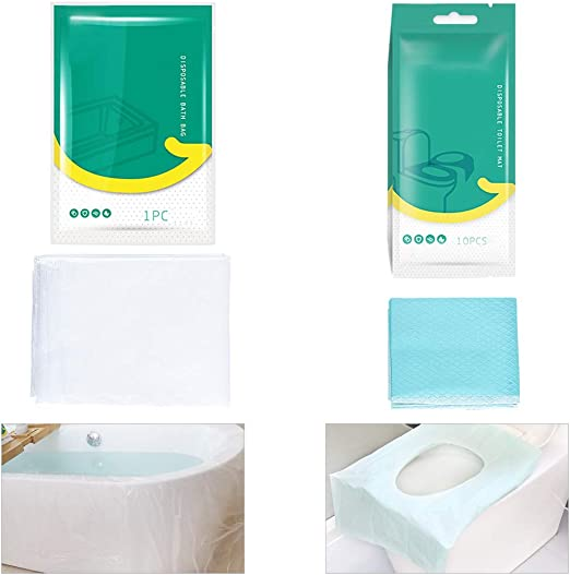 50pcs Disposable Sanitary Antibacterial Toilet Seat Cover Case Travel Portable W