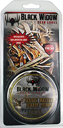Black Widow Deer Lures Scrape Master Northern Scent Beads 2Oz