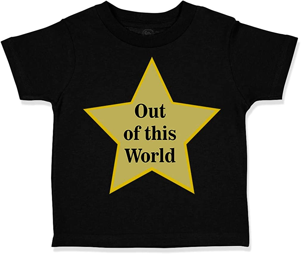 Custom Toddler T-Shirt Out of This World with Star Funny Humor Cotton