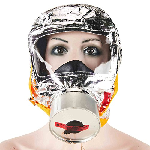 Holulo Fires Escape Mask Full Face Respirator Safety Mask With Organic Vapors for Dust/Spray Paint(Fir mask)