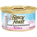 Purina Fancy Feast Tender Ocean Whitefish Feast Wet Kitten Food – (24) 3 Oz. Cans For Sale