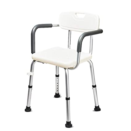 Bathroom Fixtures Aluminum Alloy Bbackrest Bath Stool Thickening Antiskid Bathroom Chair For The Elderly Pregnant Women And Disabled Persons