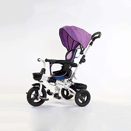 QXMEI 4 En 1 Triciclo Bebé Plegable 6 Meses A 6 Años Arnés De 2 ...