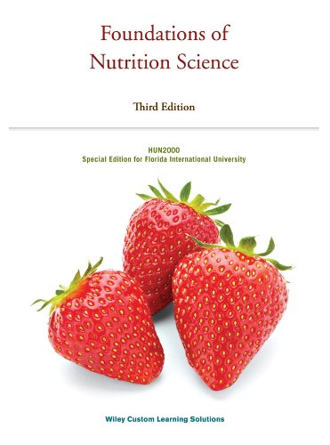 FOUNDATIONS OF NUTRITION SCI. >CUSTOM<