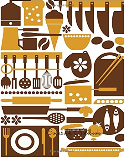 Book Cookbook Notebook: Journal Notebook. Recipe Keeper, Organizer To Write In, Storage for Your Family Recipes. Blank Book. Empty Fill in Cookbook Template 8 by 10in 100 pages
