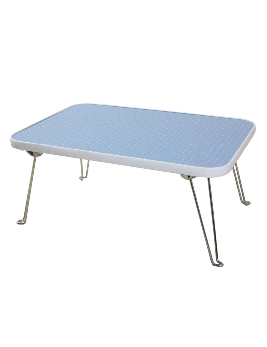 CWJ Table- Folding Table Fold Waterproof Small The Table Laptop Tables Save Space Dormitory Student Easy Lazy Bed Simple Home,3