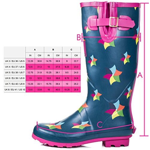 Adjustable Boots Spylovebuy Rain Windmill Welly Women's IGLOO Flat Buckle qfxfE40A