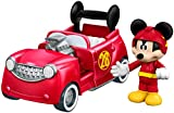 Fisher-Price Disney Mickey and the Roadster Racers - 2-in-1 Hot Doggin' Hot Rod Vehicle & Figure