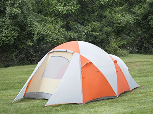 EXIO 8-Person Compact Backcountry Tent, 20D Breathable Ripstop Nylon Tent and Rainfly With PU2000 Silicone Coating, Aluminum Poles, Footprint Included