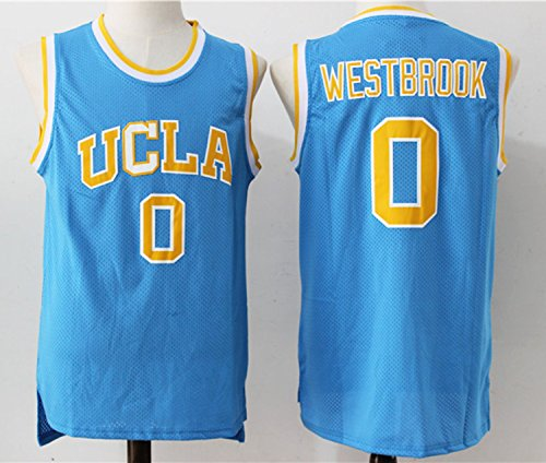 Mens UCLA Russel Westbrook #0 New Arrive Basketball Jersey Blue M