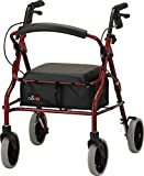 NOVA 20'' Zoom Rollator Walker, Red