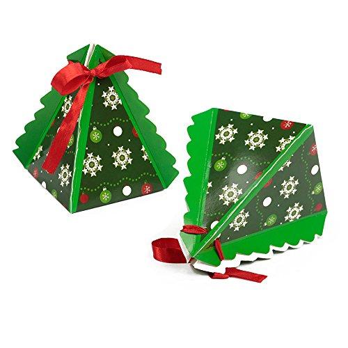 Pack 30 60 90x Small Christmas Tree Favour Gift Boxes Secret Santa 75mm X 105mm 90pcs