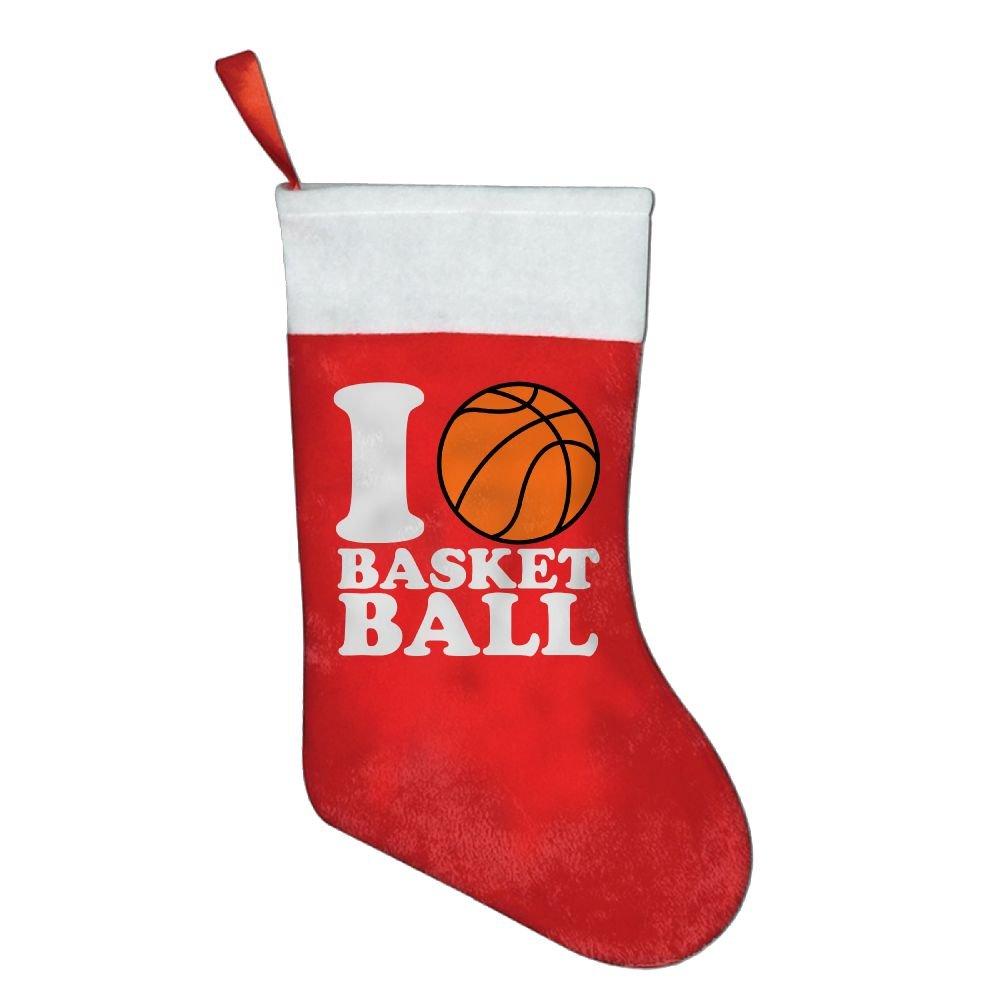 Calcetín de Navidad I Love baloncesto estilo niños favorito medias ...