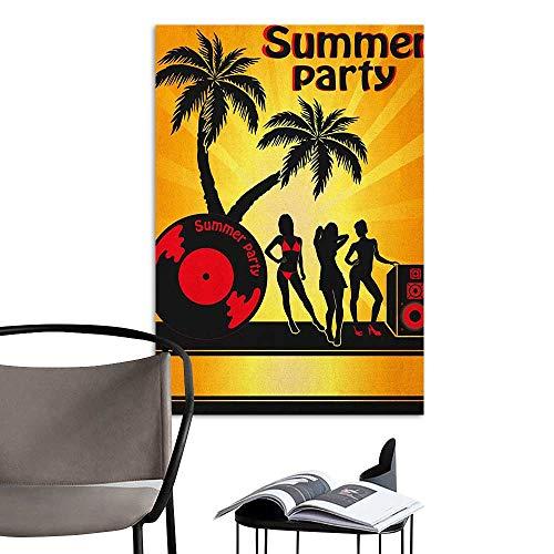 Brandosn Waterproof Art Wall Paper Poster Beach Summer