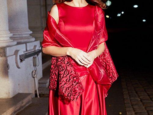 banchetto Vestito HDHG elegante paragrafo madre da da lungo dignitoso abito atmosfera rosso donna nobile sera matrimonio 1gnqgPpdw