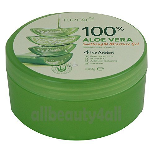 Amazon Com Topface 100 Aloe Vera Soothing Moisture Gel 300g 10 58 Oz Made In Korea Beauty