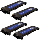 """(4 Pack) Brother Compatible TN-350 TN350 Laser Toner Cartridge, 2,500 Pages, Black"""""""", Office Central"""
