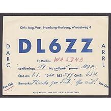 DL6ZZ Hamburg Germany QSL Ham Radio postcard 1960