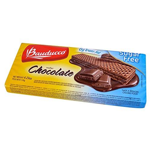 Chocolate Sugar Free Wafers - Bauducco Cookie Wafer Chocolate Sugar Free 4.23 oz. (Pack of 3)