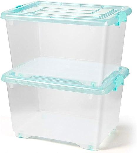 HUIQI Caja almacenaje Caja de Almacenamiento Transparente Grande ...