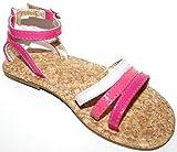 BabyGap Toddler Preschool Girls Pink Patent Strappy Sandals with Cork Insole