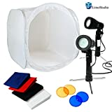 Limotable Top Photo 24'' Tent Kit - 2Pcs Led Portable Lighting Kit With 2 Colors Gel Filters Blue&Red, Agg1659